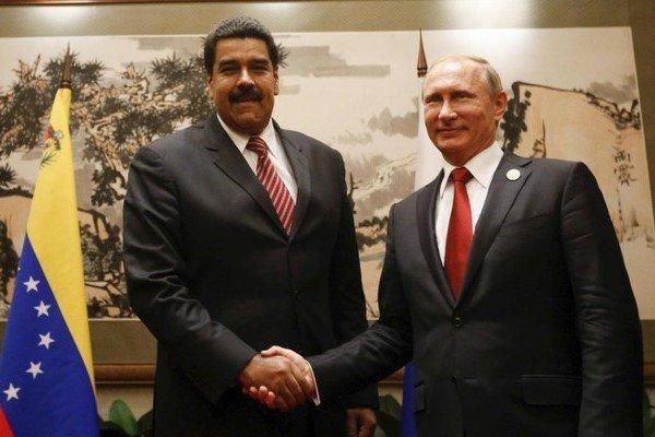 اعلام حمایت ولادیمیر پوتین از دولت نیکلاس مادورو در ونزوئلا