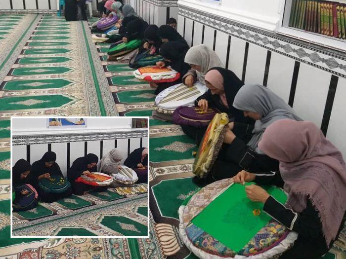 برگزاری کلاس های آموزش صنایع دستی در روستای فاریاب بستک