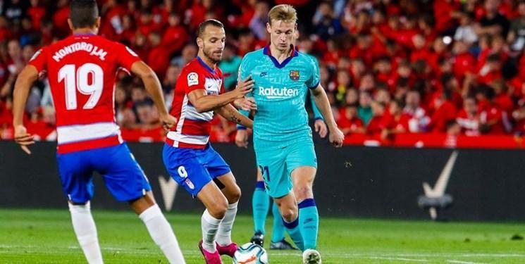 دومین باخت فصل بارسلونا در حضور مسی، گرانادا در صدر