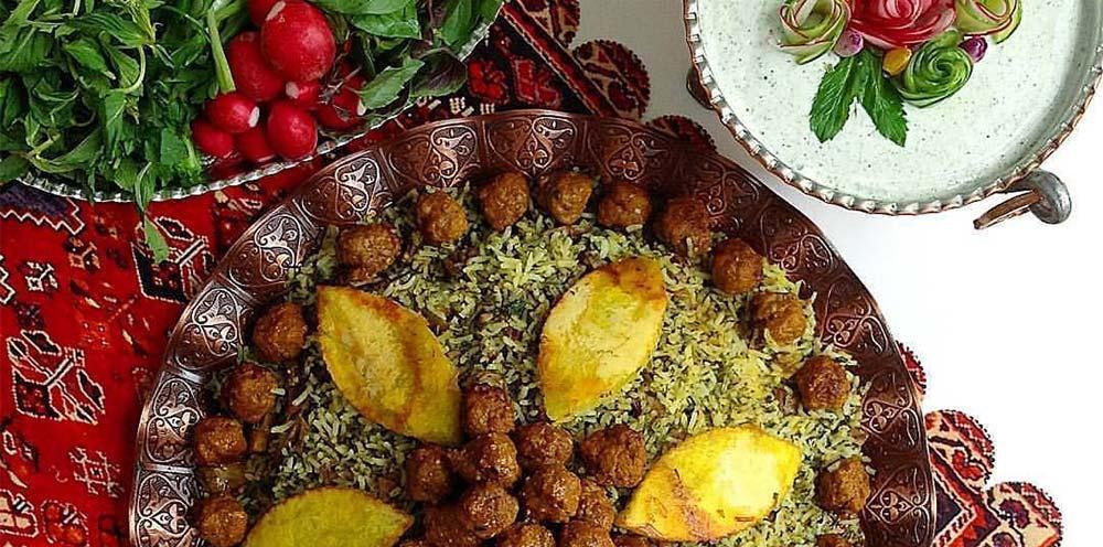 طرز تهیه پلو شیرازی اصل و سنتی با لوبیا چشم بلبلی