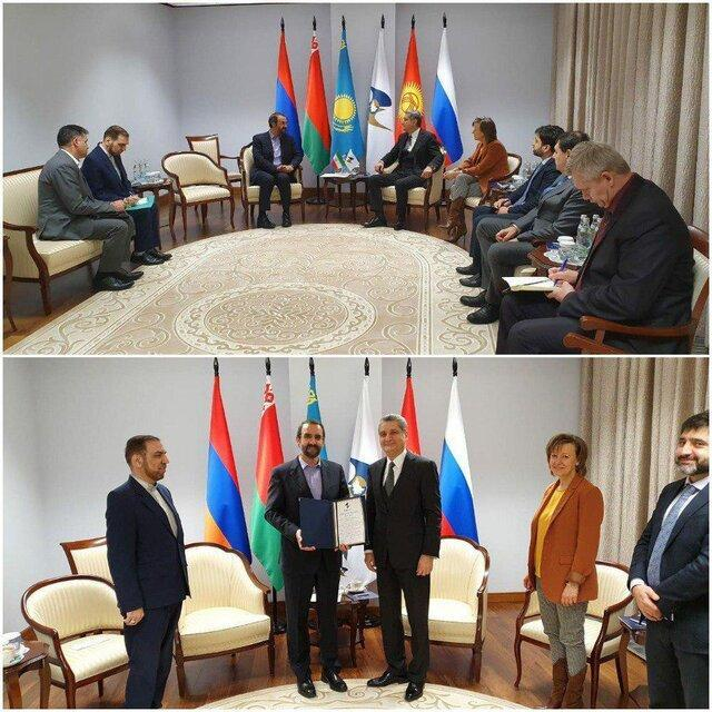 تجلیل دبیرکل اتحادیه اقتصادی اورآسیا از سفیر ایران در فدراسیون روسیه