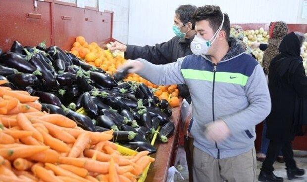 افزایش مشتریان میادین میوه و تره بار در روز های اخیر