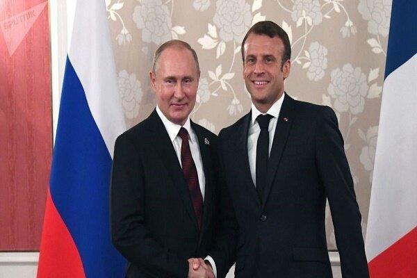 پوتین و ماکرون تلفنی درباره سوریه مصاحبه کردند