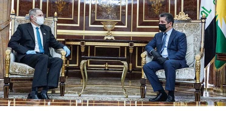 نخست وزیر دولت منطقه کردستان عراق با سفیر آمریکا گفت و گو کرد
