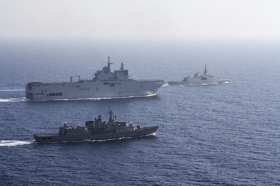 مانور نظامی مشترک یونان، فرانسه، ایتالیا و قبرس در شرق مدیترانه
