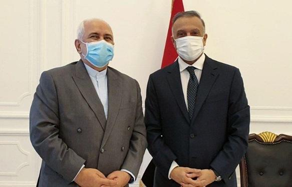 ظریف با مصطفی الکاظمی نخست وزیر عراق دیدار کرد