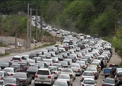ترافیک سنگین در محورهای تهران-شمال ، آزادراه کرج-تهران پرتردد ترین در کشور است