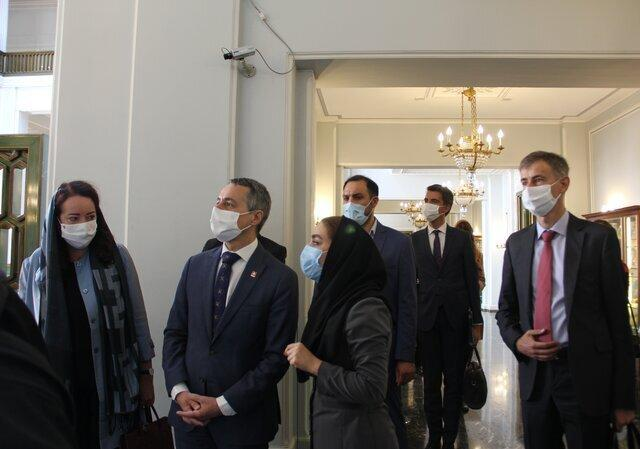 وزیر امور خارجه سوییس در کاخ نیاوران، عکس