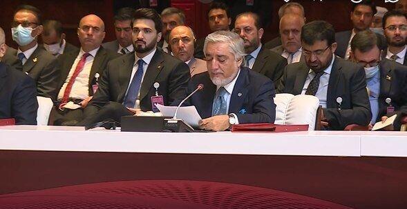 عبدالله عبدالله: برای صلح دائمی و مذاکرات صادقانه آمده ایم