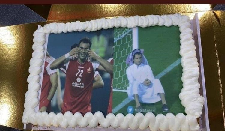 (عکس) کیک صعود پرسپولیس در عربستان!