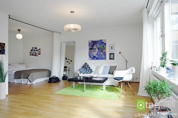 چیدمان آپارتمان کوچک و جمع و جور با دکوراسیونی شیک و کاربردی