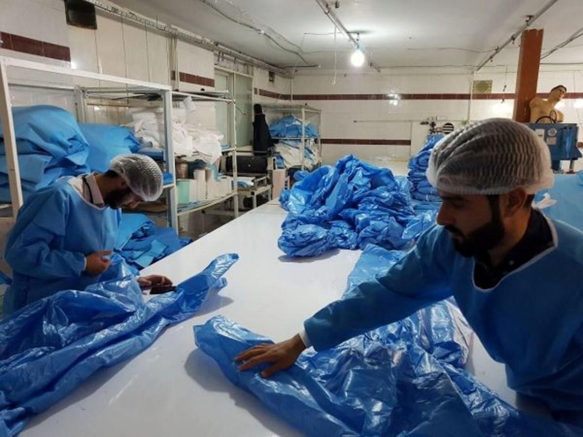 فناوری فراوری مواد اولیه ساخت ماسک و البسه بیمارستانی