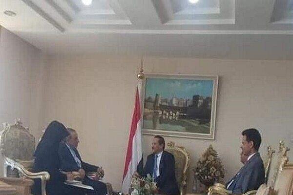 خبرنگاران سفیر ایران رونوشت استوارنامه خود را به وزیر خارجه یمن ارایه کرد