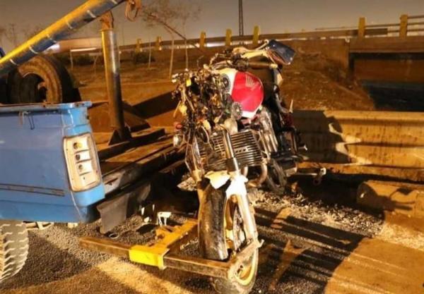 تصادف مرگبار موتورسنگین با عابرپیاده