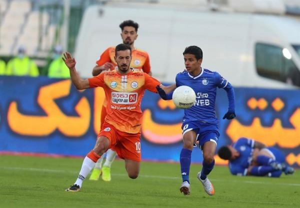 لیگ برتر فوتبال، یک نیمه بدون گل نتیجه تقابل استقلال و سایپا