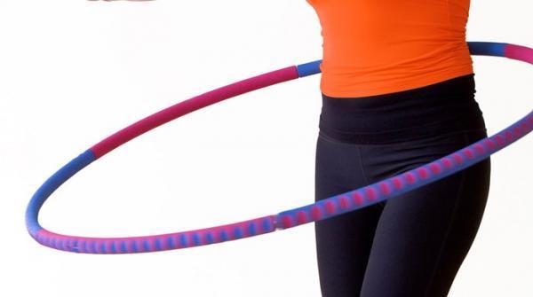 آموزش تصویری ورزش با حلقه هولاهوپ